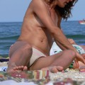 Topless girls on the beach - 125