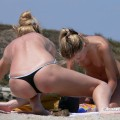 Topless girls on the beach - 115