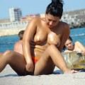 Topless girls on the beach - 292