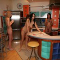 Nude wives making breakfast for you