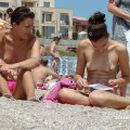 Topless girls on the beach - 256