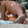 Topless girls on the beach - 123