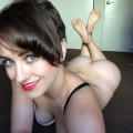 Naked selfies of beautiful short haired brunette