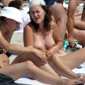 Topless girls on the beach -  009