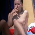 Topless girls on the beach - 140