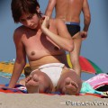 Topless girls on the beach -  006