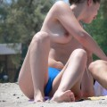 Topless girls on the beach - 021
