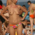 Topless girls on the beach -  007
