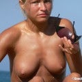 Topless girls on the beach - 228