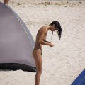 Nude girls on the beach - 100