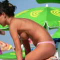 Topless girls on the beach - 285