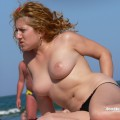 Topless girls on the beach - 067