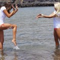 Beach - leigh and shawna 1