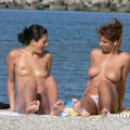 Topless girls on the beach - 262