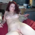 Nude photos of cute and horny redhead student