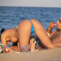 Topless girls on the beach - 233