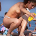 Topless girls on the beach - 230
