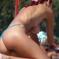 Topless girls on the beach - 229