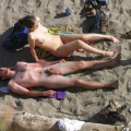 Nude couples on the beach - 1