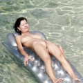 Nudist inflatable mattress nudist girl