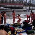 Horny students group makes hot pictures in winter