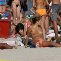 Topless girls on the beach - 167 - crowded beaches