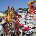 Topless girls on the beach - 272