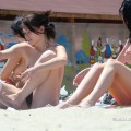 Topless girls on the beach - 120