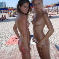 Topless girls on the beach - 275 - young tits