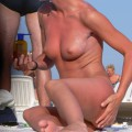 Topless girls on the beach - 173