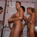 Summer camp girls fingering in the shower