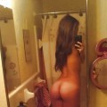Girls selfshot ass from behind